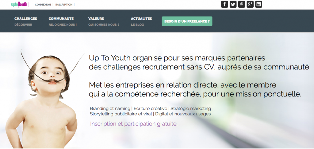 Uptoyouth le candidat apporteur d 39 id es l for Idee innovation entreprise
